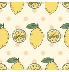 seamless fruit pattern of lemons vector image
