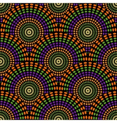 Seamless geometric pattern of rounds vector image