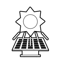 Sketch silhouette image solar energy panel vector