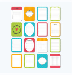 Template for notebooks collection of various note vector