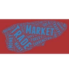 The forex market text background wordcloud concept vector