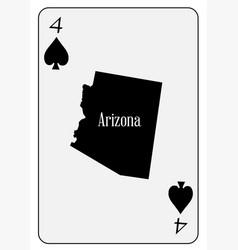 usa playing card 4 spades vector image vector image