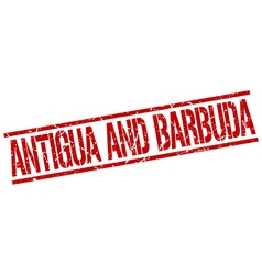 Antigua And Barbuda red square stamp vector image