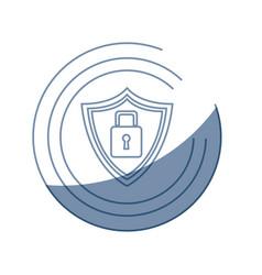 Security technology padlock shield internet vector