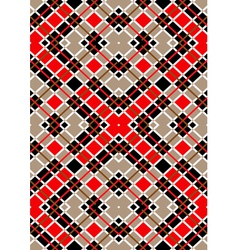 Motley red brown white squares vector