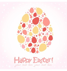 Easter egg stylized cute greeting card vector