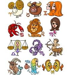 horoscope zodiac signs set vector image