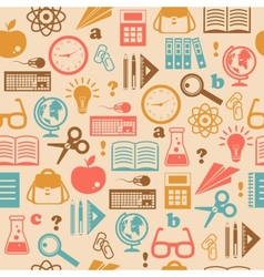 Education seamless wallpaper vector