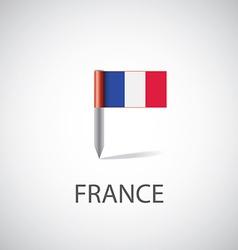 france flag pin vector image
