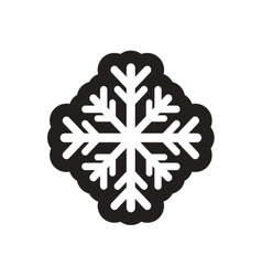 Flat icon in black and white snowflake vector