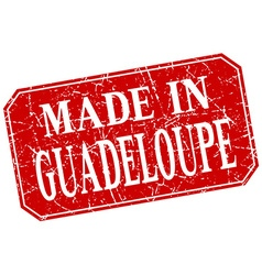 Made in guadeloupe red square grunge stamp vector