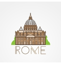 St peters cathedral rome italy hand drawn vector
