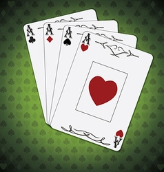 Ace of spades ace of hearts ace of diamonds ace of vector