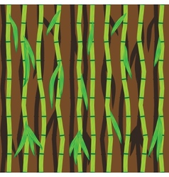 Bamboo sticks and leaves abstract seamless vector