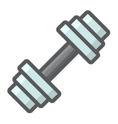 Barbell filled outline icon fitness and sport vector