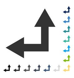 Bifurcation arrow left up icon vector