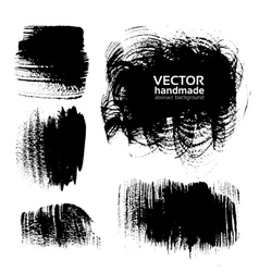 Black brush strokes on white background vector image vector image