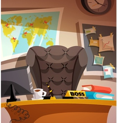 Business workplace office interior vector image vector image