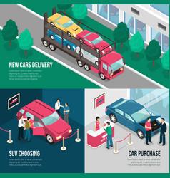 Car dealership leasing design concept set vector