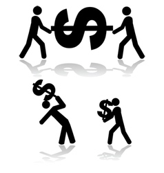 Carrying money vector image