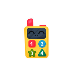 children walkie-talkie or cell phone with colorful vector image
