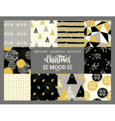Christmas and New Year Set Abstract geometric and vector image