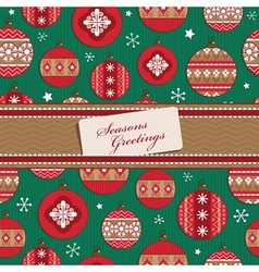 christmas wrapping vector image vector image