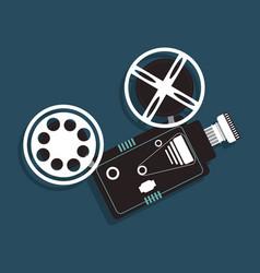 Cinema camera film projector icon vector