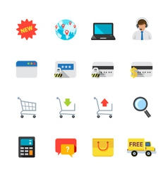 e-commerce and online shopping icons vector image vector image