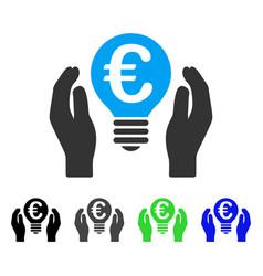Euro patent care flat icon vector