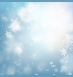 fallen defocused snowflakes blured template eps vector image