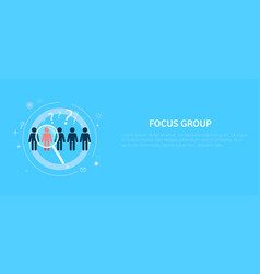 focus target group vector image vector image