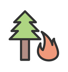 Forest fire vector