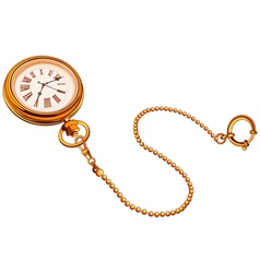 Gold Pocket watch vector image vector image