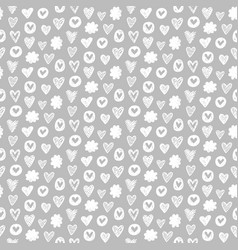 hearts shapes romantic seamless pattern vector image vector image