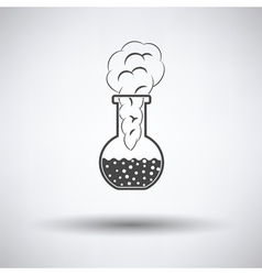 Icon of chemistry bulb with reaction inside vector image