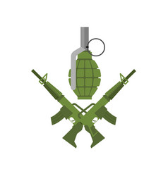 military emblem army logo crossed rifles and vector image vector image