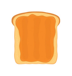 Peanut butter on toast fried bread with butter vector