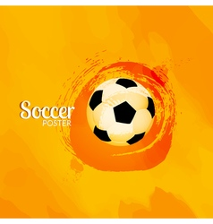 Soccer football poster design template soccer vector