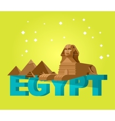 Sphinx and pyramids background Travel vector image