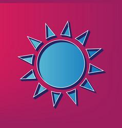 Sun sign blue 3d printed vector