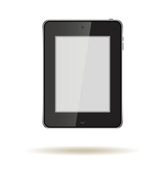 Tablet in ipad style black color with blank touch vector