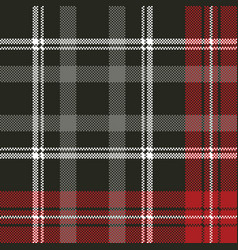 Tartan pixel plaid seamless fabric texture vector