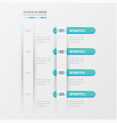 Timeline design blue gradient color vector