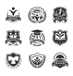 University And College Logos Emblem Set vector image