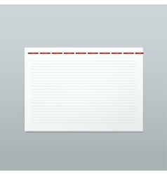 White Blank Paper Note Notebook Page vector image