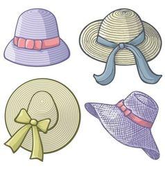 women hats vector image vector image