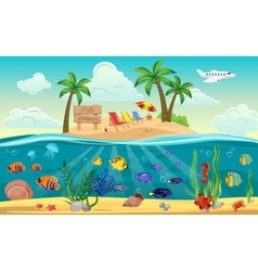 World Island Composition vector image vector image