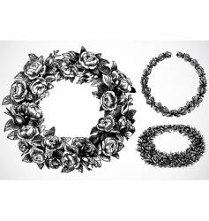 rose wreaths vector image