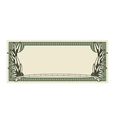 Bill dollar print seal isolated icon vector